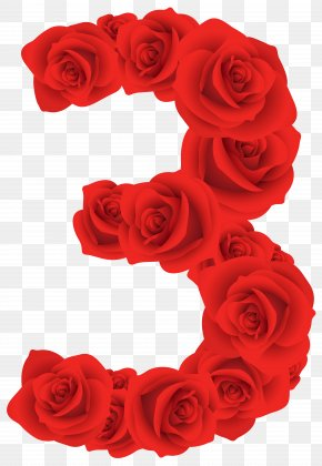 Red Roses Number Three Clipart Image - Goldilocks And The Three Bears Royalty-free Clip Art PNG