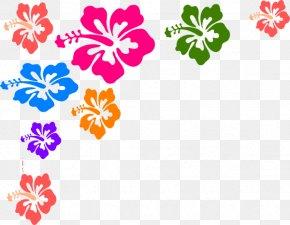 Floral Line Cliparts - Hawaiian Hibiscus Free Content Clip Art PNG