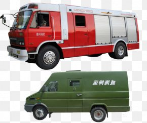 Military Specialized Type Special Vehicle - Car Compact Van Vehicle Fire Engine PNG