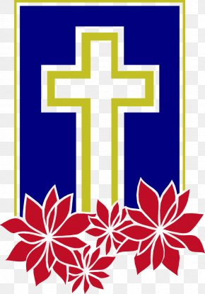 Christian Cross - Christmas Christian Cross Santa Claus Clip Art PNG