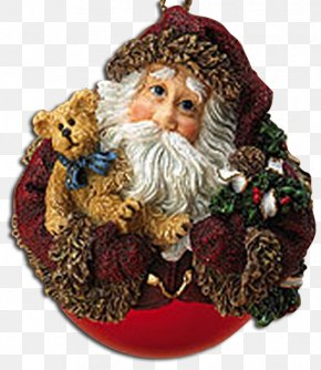 Santa Claus - Christmas Ornament Boyds Bears Santa Claus PNG