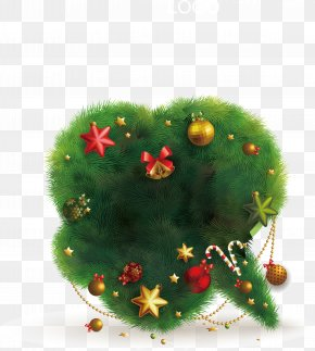 Creative Christmas Tree Vector Material - New Year's Day Christmas Tree PNG