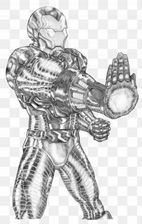 Iron Man Sketch - Line Art Figure Drawing Sketch PNG