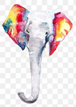 T-shirt - T-shirt Watercolor Painting Elephants Drawing PNG