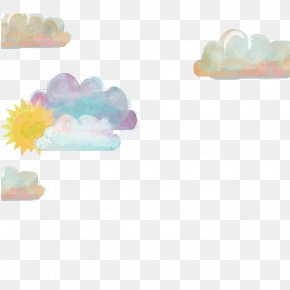 Vector Painted Clouds - Cloud Iridescence Euclidean Vector PNG