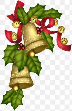 Golden Christmas Bell - Christmas Carol Of The Bells Convite Clip Art PNG