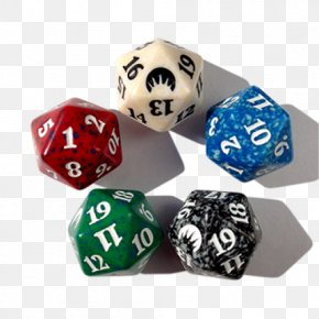 D20 Dice - Magic: The Gathering D20 System Dice Playing Card Collectible Card Game PNG
