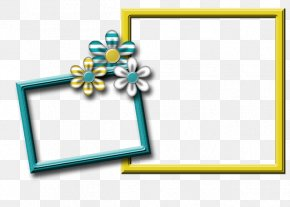 Blue Picture Frame - Picture Frames Digital Scrapbooking Paper Clip Art PNG