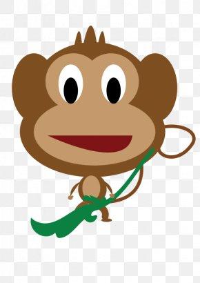 Monkey Vector - Drawing Baby Monkeys Cartoon Clip Art PNG