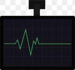 ECG Monitor - Monitoring Electrocardiography Heart Computer Monitor Display Device PNG