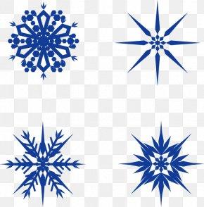 Vector Blue Snowflake - Snowflake Euclidean Vector PNG