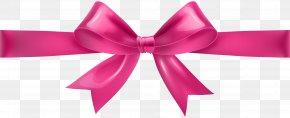 Pink Bow Transparent Clip Art - Ribbon Pink Clip Art PNG