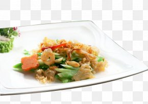 Sea Kale Fried Cherry Blossom - Thai Cuisine Chinese Cuisine Vegetarian Cuisine Chinese Broccoli Food PNG