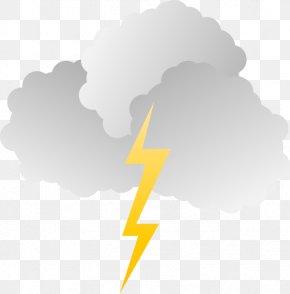 Cloud Lightning Cliparts - Cloud Lightning Storm Sky PNG