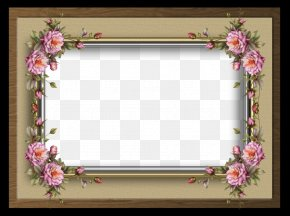 Flower Boarder - Picture Frames Paper Watercolor Painting PNG