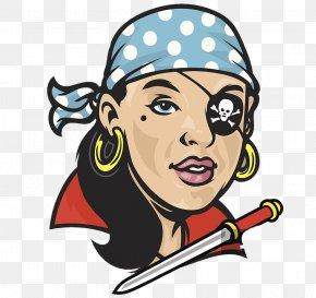 Image Design, Pirate Woman's Image Design - Piracy Black Powder Fireworks Illustration PNG