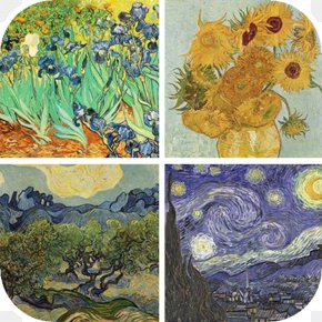Painting - The Starry Night Museum Of Modern Art Almond Blossoms Painting Artist PNG