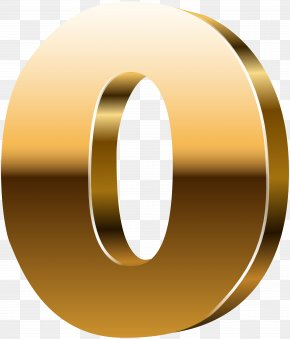 Number Zero 3D Gold Clip Art Image - Number Mirror Clip Art PNG