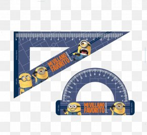 Two Small Yellow People Scale - Ruler Scale Stationery PNG