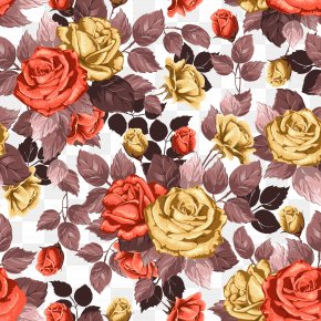 Retro Flowers Background - Flower PNG
