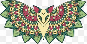 Vector Painted Totem Bat - Coloring Book For Adults A Owl Illustration PNG