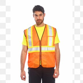 T-shirt - Gilets T-shirt Shoulder High-visibility Clothing Sleeve PNG