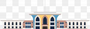 Coffee Colored Cartoon Church Building - Architecture Cartoon Icon PNG