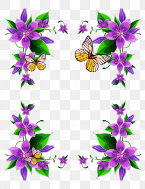 Wilma Border - Borders And Frames Floral Design Clip Art Flower PNG