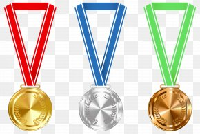 Gold Silver And Bronze Medals Clipart Image - Gold Medal Award Clip Art PNG