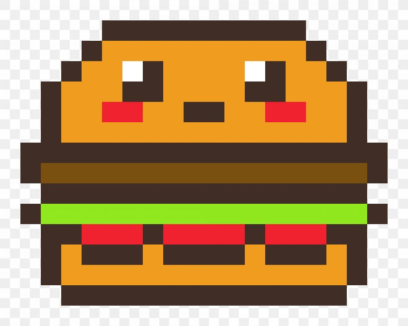 Hamburger French Fries Pixel Art Png 2000x1600px