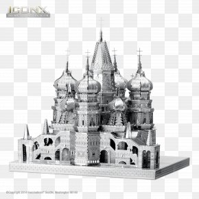 Cathedral - Saint Basil's Cathedral Himeji Castle Sheet Metal Plastic Model PNG