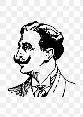 Vector Mustache - Moustache Man Clip Art PNG