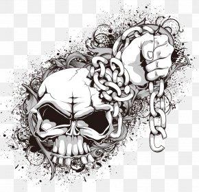 Vector Skull Chain - Skull And Crossbones Euclidean Vector Clip Art PNG