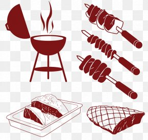 Paper Art - Barbecue Churrasco Meat PNG