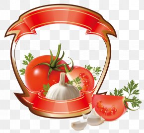 Vegetables Icon Vector Elements - Tomato Juice Cherry Tomato Ketchup Label PNG