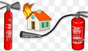 House Is On Fire Extinguisher - Firefighting Fire Hydrant Fire Engine Firefighter PNG