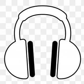 Book Listening Cliparts - Headphones Black And White Coloring Book Clip Art PNG
