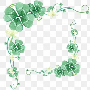 Clover Border - Drawing Stock Photography Leaf Royalty-free Illustration PNG