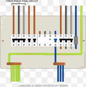 Single-phase Electric Power - Wiring Diagram Electric Switchboard Electrical Wires & Cable Distribution Board Home Wiring PNG