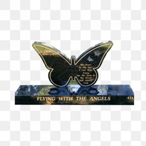 Butterfly - Headstone Butterfly Monument Memorial Cemetery PNG
