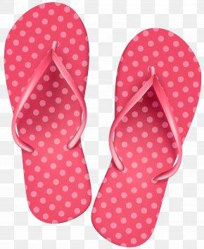 Pink Flip Flops Clip Art Image - Flip-flops Clip Art PNG