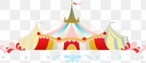Circus Color Roof - Circus Roof PNG