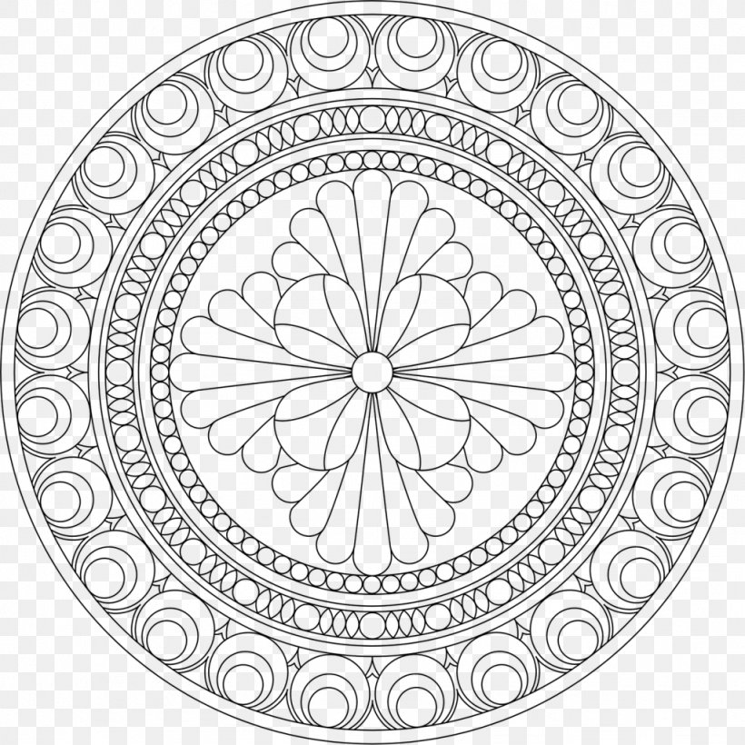 Mandala Coloring Book Child Doodle Meditation, PNG, 1024x1024px, Mandala,  Adult, Area, Art Therapy, Black And White