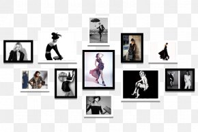Women's Clothing Store Fashion Model Photo Wall - Picture Frame Wall PNG