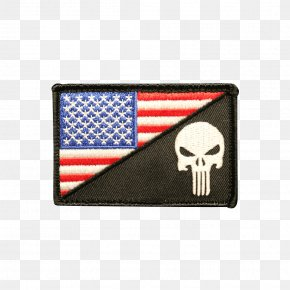 Flag Patch - Flag Of The United States Embroidered Patch Flag Patch Punisher PNG