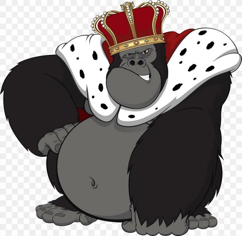 Gorilla Primate King Kong Ape Chimpanzee, PNG, 1000x978px, Gorilla, Ape, Carnivoran, Cartoon, Chimpanzee Download Free