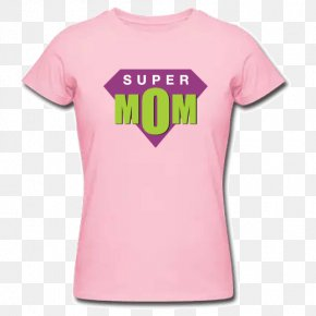 Super Mom - Printed T-shirt Sleeve Top PNG