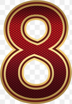 Red And Gold Number Eight Image - Alpha Compositing Pixel Byte Computer File PNG