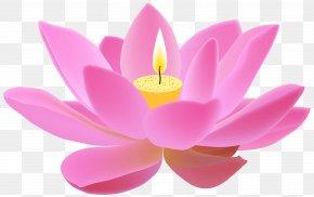 Lotus Candle Free Clip Art Image - Nelumbo Nucifera Clip Art PNG