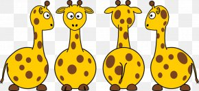 Giraffe Cartoon Picture - Northern Giraffe Cartoon Clip Art PNG